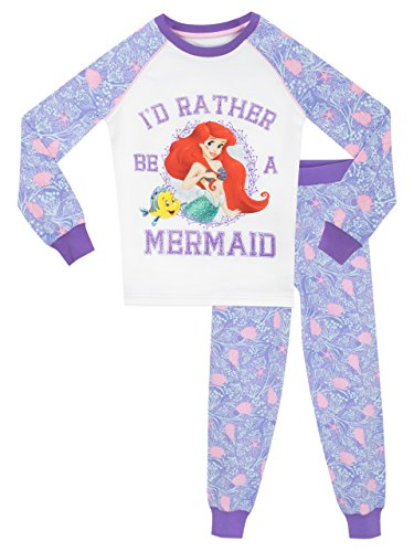 Disney Arielle die Meerjungfrau Mädchen The Little Mermaid Schlafanzug - Slim Fit - 128