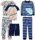 Simple Joys by Carter's - Pijama dos piezas - Juego de pijama de algodón de ajuste cómodo de 6 piezas. - para niño multicolor Racer Cars/Iguana 4 Years