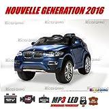BMW X6, azul metalizada, version luxe con mando a distancia parentale 2,4gHz, coche...