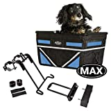 TRAVELIN K9 Pet-Pilot MAX Dog Bicycle Basket Carrier | 8 Color Options for Your Bike (Neon Blue)