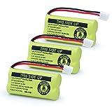 XUNTU BT18433/BT28433 2.4V 500mAh Ni-mh Rechargeable Battery Compatible with AT&T and Vtech Phones BT184342 BT284342 BT-8300 BATT-6010 BT1011 BT1018 BT1022 BT1031 89-1326-00-00/89-1330-01-00 / CPH-515