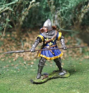 Medieval Knight Toy Soldiers English Man At Arms No.1 with Lance Figure Collectors Showcase Toy Soldiers Painted Metal Figure 54mm-56mm CS00796 Britains Type