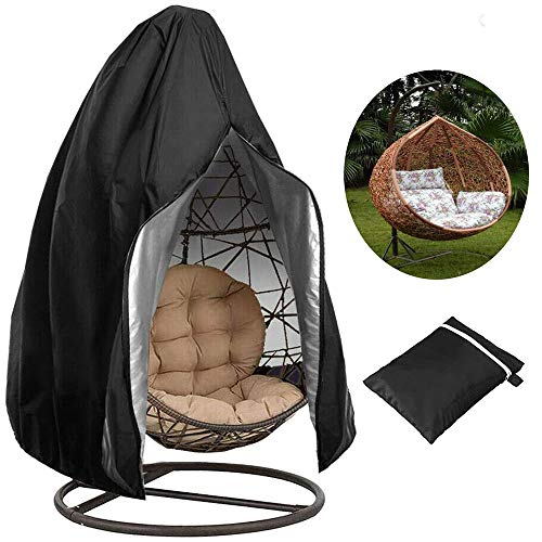 Liu Swing Chair Dust Cover Egg Chair Covers Waterproof Heavy Duty,With Zipper And Drawstring And With Storage Bag,For Outdoor