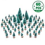 MELLIEX 60 Stück Miniatur Weihnachtsbaum Künstlicher Mini Modell...