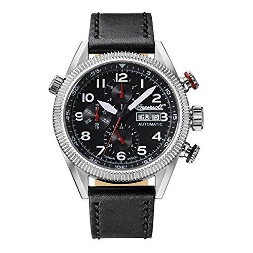 Ingersoll Herren Analog Automatik Uhr mit Leder Armband IN1102BK