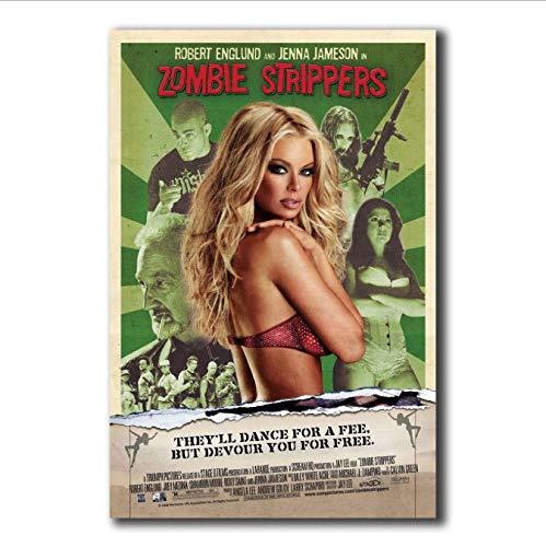 yhnjikl Carteles e Impresiones Zombie Strippers Película Horror Jenna Jameson Robert Art Poster Lienzo Pintura Decoración para el hogar 40X60Cm Sin Marco