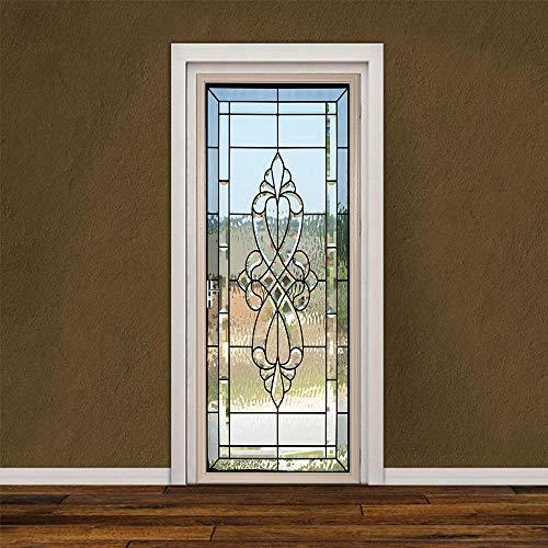 3D-dörrklistermärken för innerdörrar, PVC självhäftande väggklistermärken för heminredning 77 x 200 cm målat glasdörr