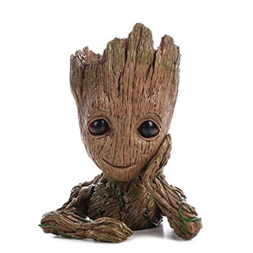 Baby Groot Flower Pot Marvel figura de acción de Guardians of the Galaxy para plantas y plumas...