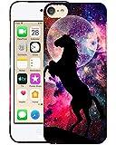 Glisten Schutzhülle für iPod Touch 7. / 6. / 5. Generation, Motiv Pferd mit Nebel Hintergr&, schmale Passform, Kunststoff, aufsteckbar, Hartschale
