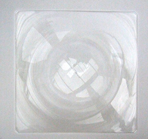 Fresnel-Linse, groß, hart, 395 x 395 mm