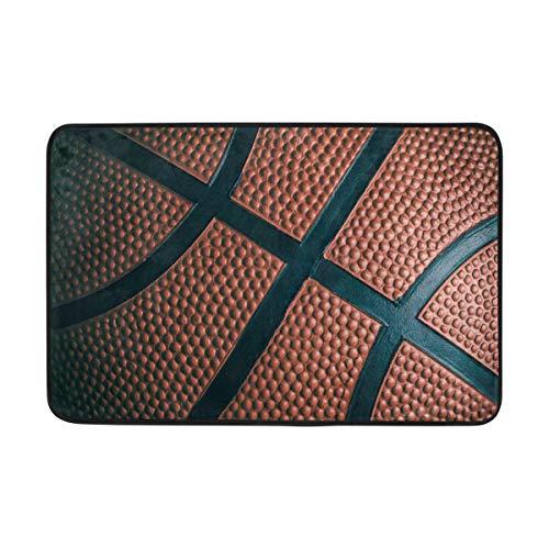 WowPrint Felpudo deportivo con diseño de baloncesto para interior, lavable, para salón, dormitorio, decoración del hogar, 60 x 40 cm