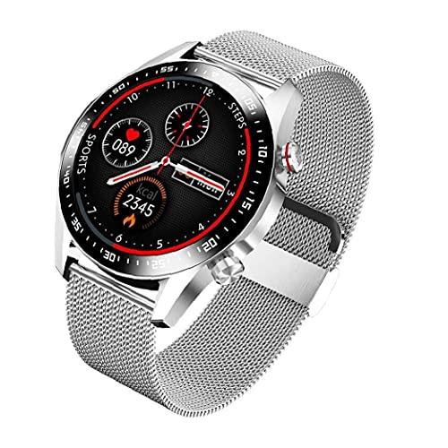 FeelMeet Smart Horloge Touchscreen Bluetooth Fitness Tracker Ip67 Waterdicht met Multi-Sport Mode Hartslag Slaap Detectie Sliver Metal
