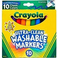 Crayola Ultraclean Broadline Classic Washable Markers (10 Count)