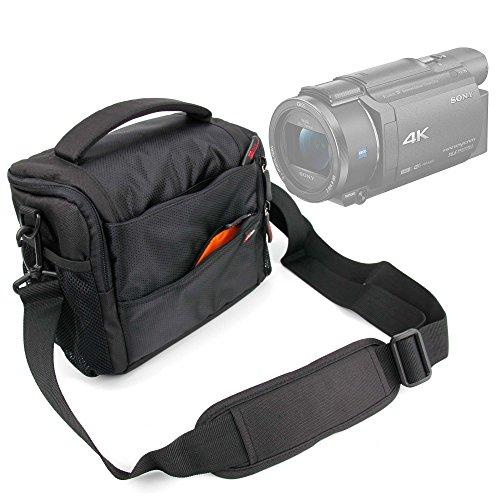DURAGADGET Custodia Imbottita per Videocamera Somikon DV-812.HD | Sony FDR-AX33 | FDR-AX53 | DR-CX240E | HDR-PJ410 | Stoga HD - con Maniglia E Tracoll