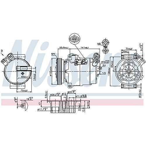 Nissens 89308 Compresor, aire acondicionado