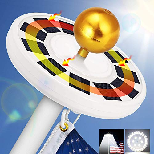 10 Best Solar Powered Flagpole Lights - Top Reviews 3