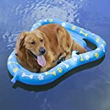 Aiseve Durable Dog Float Summer Swimming Pool Paw Inflatable Raft (Dog PAW Float, ONE FITS More)
