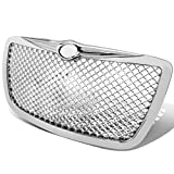 Replacement for Chrysler 300/300C ABS Plastic Mesh Front Bumper Grille (Chrome) - 1st Gen