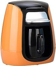 LTLWSH Koffiezetapparaat, voor 1 kopje, 150 ml, automatisch uitschakelen, 300 watt, filterkoffiezetapparaat, BPA-vrij, oranje