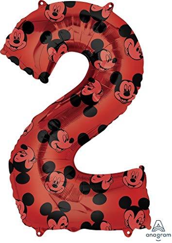 ANAGRAM Globo Número 2 Mickey Rojo