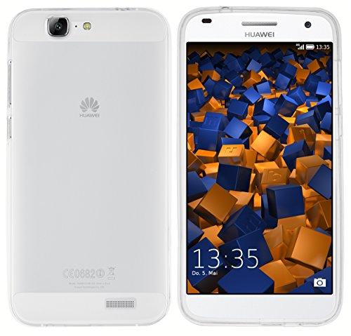 mumbi Hülle kompatibel mit Huawei Ascend G7 Handy Case Handyhülle, transparent weiss