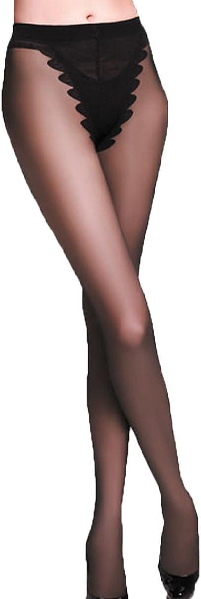 Sheer Silky Bikini Lace Top Pantyhose by Lily Fashion Gallery