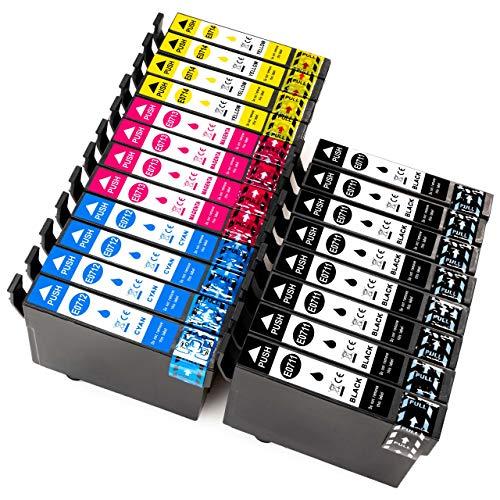 ESMOnline 20 kompatible Druckerpatronen (4 Farben) für Epson Stylus (T0711-T0715)