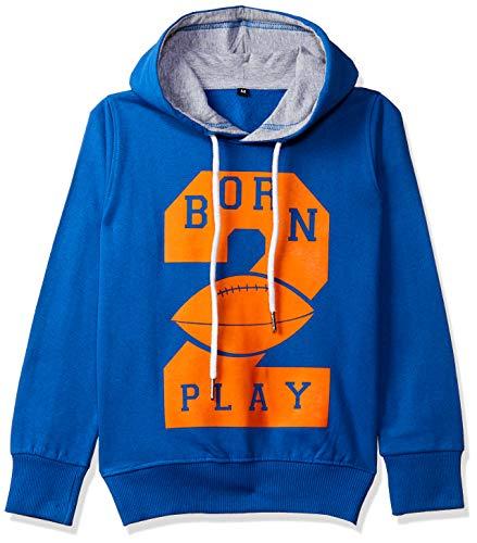 T2F Boy's Cotton Hooded Neck Sweatshirt (Royal Blue, 13-14 Years)