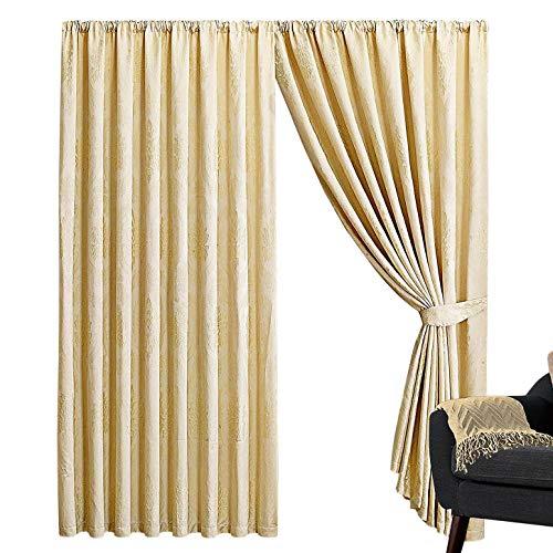 Zonsopgang beddengoed volledig gevoerd jacquard potlood Pleat venster behandeling gordijnen voor woonkamer Decor (B. Crème, 66