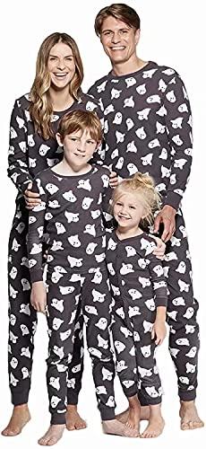 Family Pajamas Matching Sets Halloween Pumpkin Sleepwear for Baby Adults and Kids Holiday PJS Set