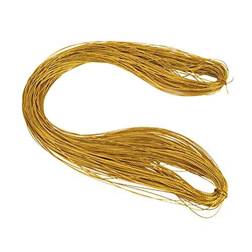 Rosenice - 100 m di cordoncino dorato per gioielli fai-da-te