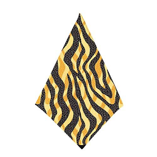 Andouy Bandana Halstuch Paisley Bindetuch Haar Schal Ansatz Handgelenk Verpackungs Band Kopftuch Unisex Mode-Accessoires(50X50CM.J)