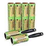 Schramm® 10 Pieces of lint Roll 10 Rolls a 60 Sheets of lint Roll Black Plastic Dispenser Incl. lint Dirt Dirt Dust Roll Rolls Brush Brushes Brushes Pack of 10
