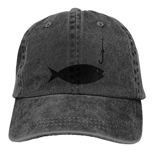 huatongxin Angelrute Clipart Retro verstellbare Cowboy Denim Hut Unisex Hip Hop Black Baseball Caps