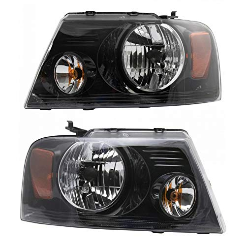 Headlight Left & Right Pair Set for 06-08 Ford F150 Harley Davidson Pickup Truck