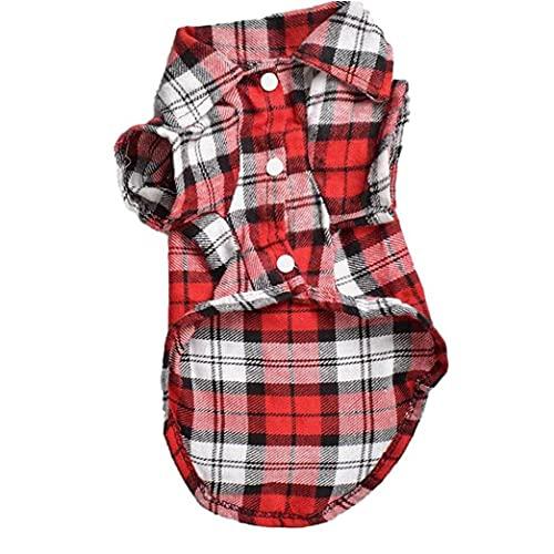 Naisicatar Camiseta De Pueblo De Pet Pear Campa De Puls De Perro Ropa De Perro Primavera De Verano Otoño para Perros Pequeños Pequeños Gatos Soft Cómodo Y Transpirable Rojo M
