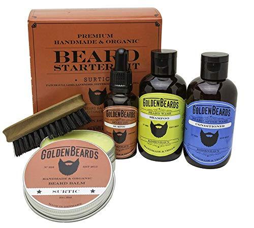 COFFRET SOIN POUR BARBE - GOLDEN BEARDS - Coffret huiles de soin pour votre barbe - 100% BIO et fabrication artisanale - - SURTIC vous offre un Big Sur arôme + menthe poivrée, orange, arbre à thé.