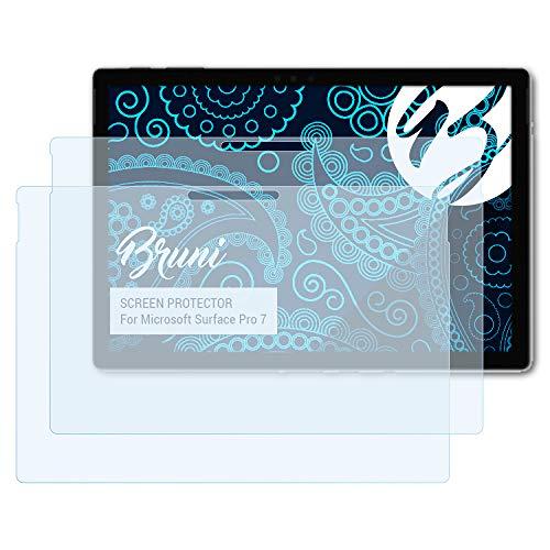 Bruni Schutzfolie kompatibel mit Microsoft Surface Pro 7 Folie, glasklare Bildschirmschutzfolie (2X)