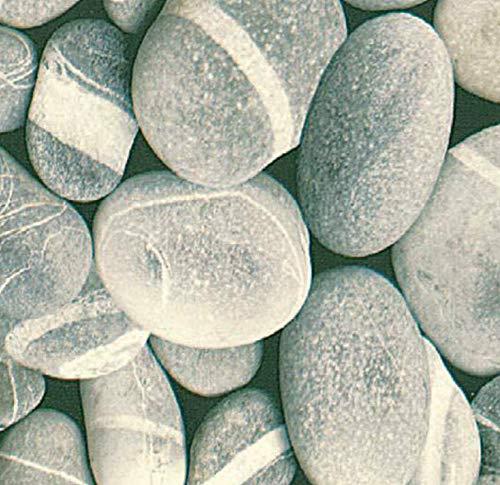 Klebefolie - Möbelfolie Steine Dekorfolie 90 cm x 200 cm selbstklebende Folie mit Flußstein Motiv - Dekorfolie