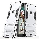 Funda para Xiaomi Redmi S2 / Redmi Y2 (5,99 Pulgadas) 2 en 1 Híbrida Rugged Armor Case Choque Absorción Protección Dual Layer Bumper Carcasa con pata de Cabra (Plateado)