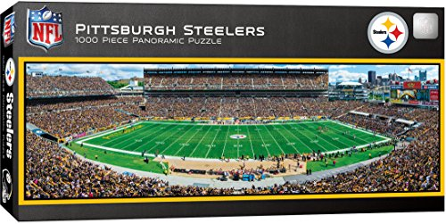 MasterPieces NFL Pittsburgh Steelers Stadium Panoramic Jigsaw Puzzle, 1000 Pieces, 13