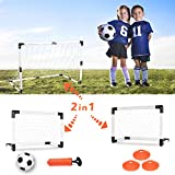 EXERCISE N PLAY Soccer Goal Set, Football Training Sports Toy, Training Ball Indoor Outdoor, for Boys and Girls Festival Gifts