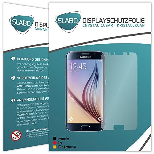 Slabo 2 x Displayfolie für Samsung Galaxy S6 Mini Displayschutzfolie Zubehör Crystal Clear KLAR
