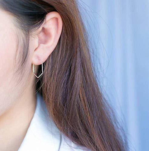 Katylen Weibliche S925 Silber Ohrringe Ring Halskette Armband Sweet Hexagon Ohrringe Geometrische Persönlichkeit Große Ohrringe, Earring