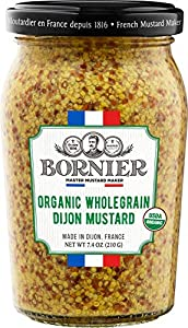 BORNIER Organic Wholegrain Dijon Mustard, 7.4 Ounce