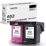 SMARTOMI Remanufacturado 652 Compatibles con HP 652 Cartucho de Tinta para Printer DeskJet Ink Advantage 1115 2135 3635 3755 3835 3836 4535 4675 AIO Series 2 Cartuchos