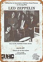 なまけ者雑貨屋 【 Led Zeppelin at Arizona State University Reproduction】 ブリキ 看板 レトロ アメリカン 雑貨 ヴィンテージ風