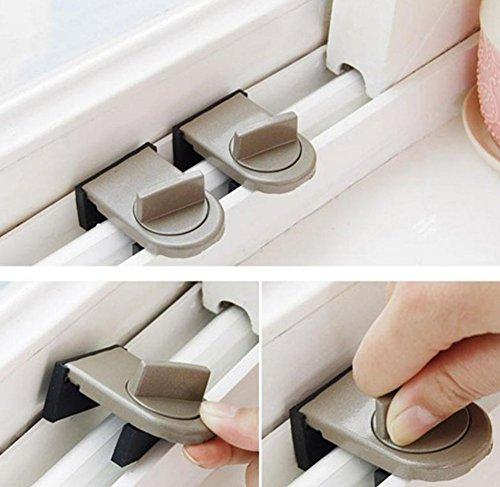 Bloqueo de Seguridad Ventana Puertas Corredera Cerraduras Bloqueo Tips