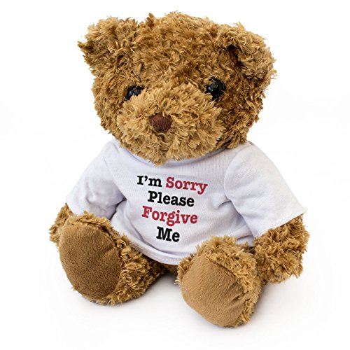 New - Sorry Please Forgive ME - Teddy Bear - Cute Soft Cuddly - Gift Present Apology