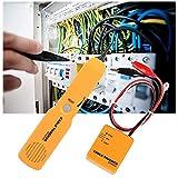 Tester Cables de Red, Multifuncional Comprobador de Cables con Probador de Continuidad de Pinzas de Cocodrilo para Líneas Telefónicas y Cables LAN